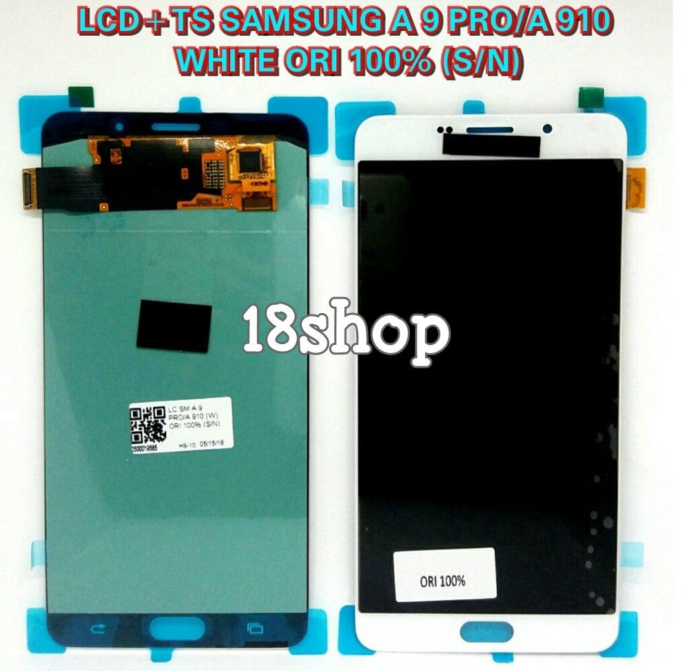 LCD Samsung Galaxy A9 Pro A 9 PRO A910 A 910 White. LCD + Touchsreen