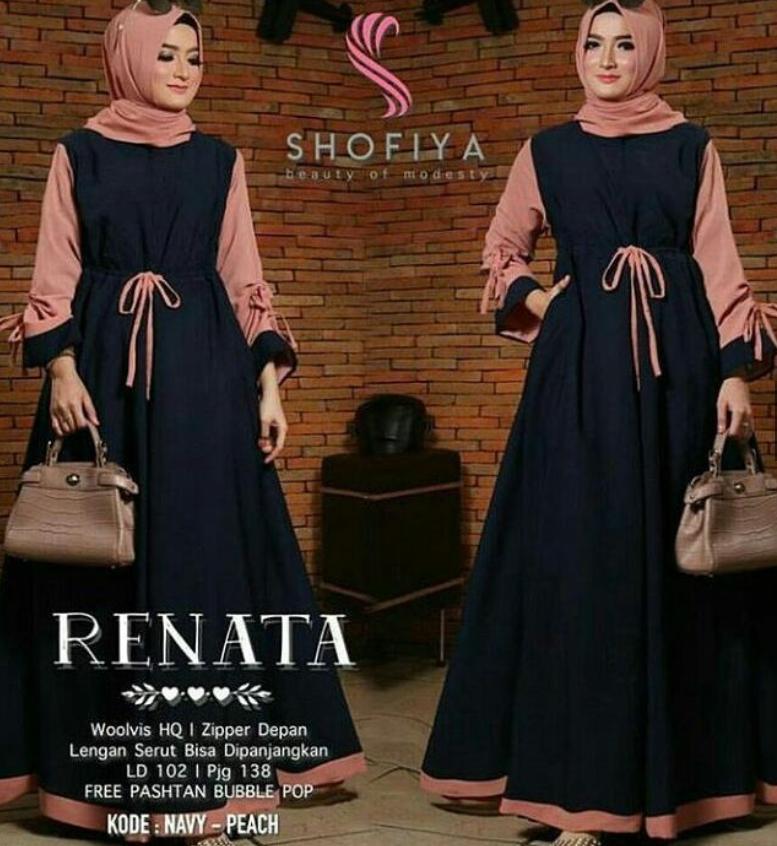 TSF Renata Maxi Dress Baju Murah Cewek Gamis Kantor Maxy Fashion Hijab Wanita Muslim Pakaian