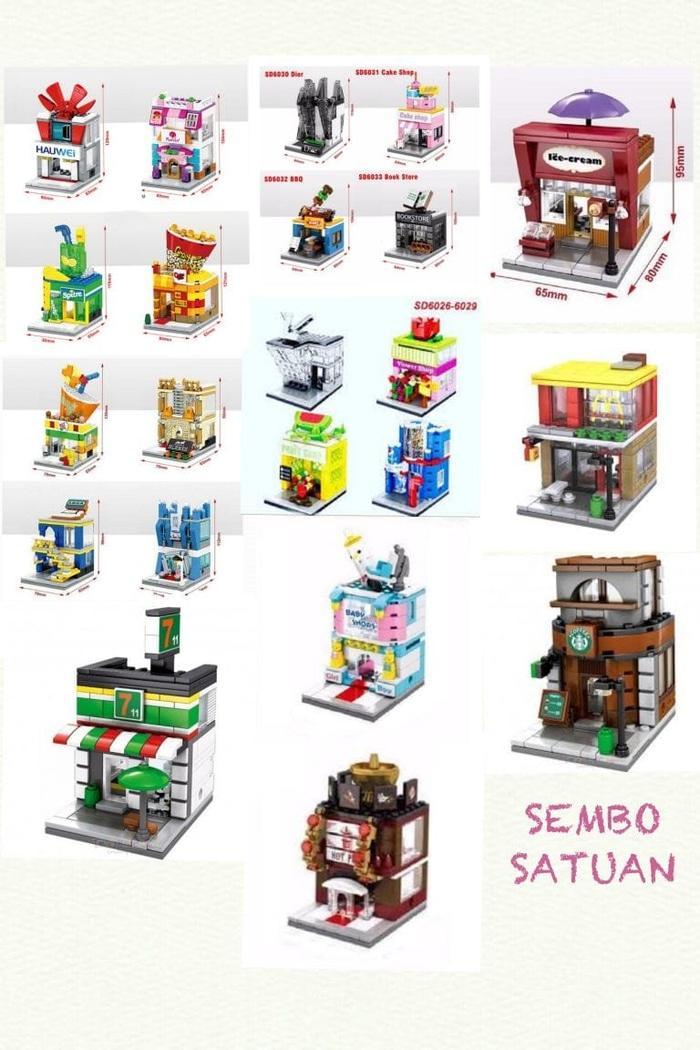 LEGO SEMBO SD 6010-6025 MINI MODULAR SATUAN