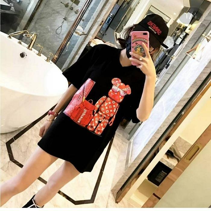 LYCAN - Baju Wanita Top Supreme Oversized - Black
