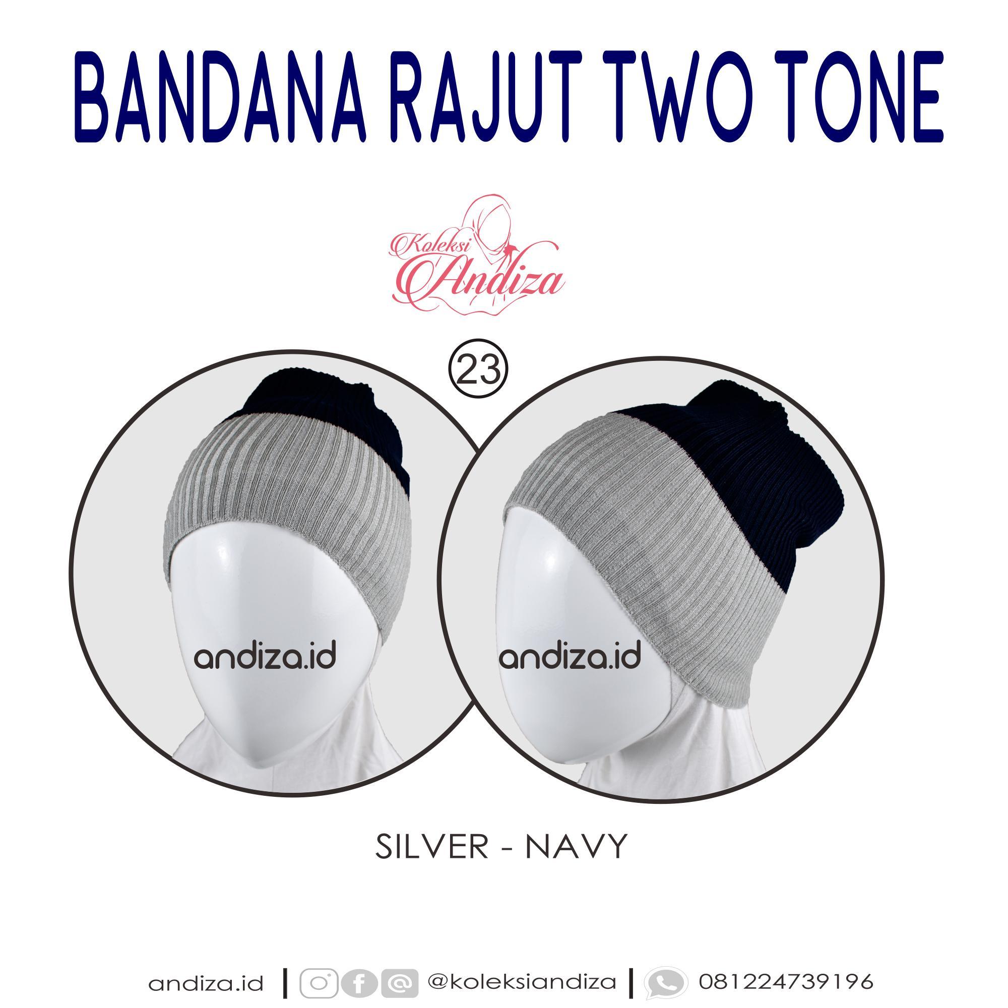 Buy Sell Cheapest Labelledesign Bandana Rajut Best Quality Product Two Tone Kerut Andiza Satu Ciput Isi 2 Dua Warna Lebih Hemat