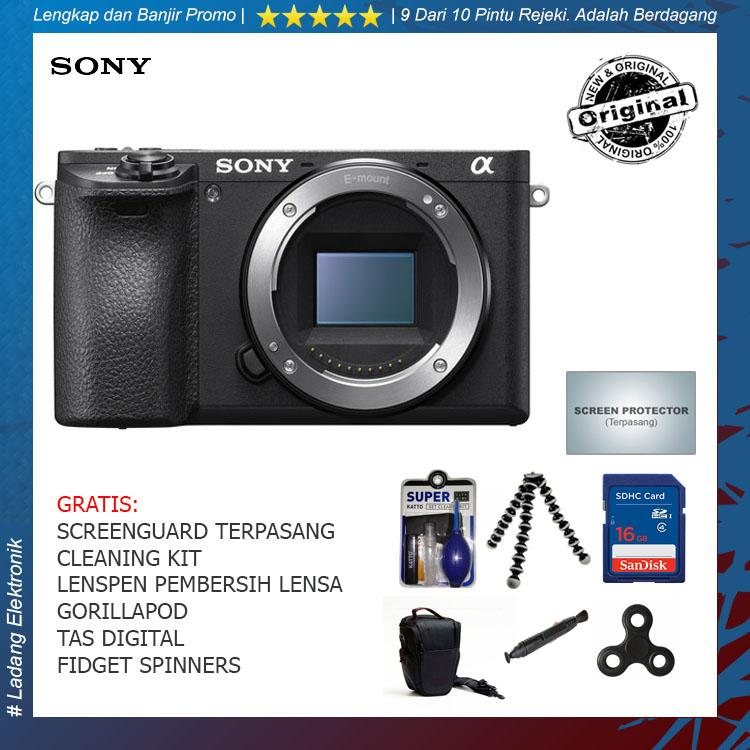 Sony Alpha A6500 Body Only Kamera Mirrorless (Free Aksesories Kamera) / Garansi Distributor 1 Tahun - Original