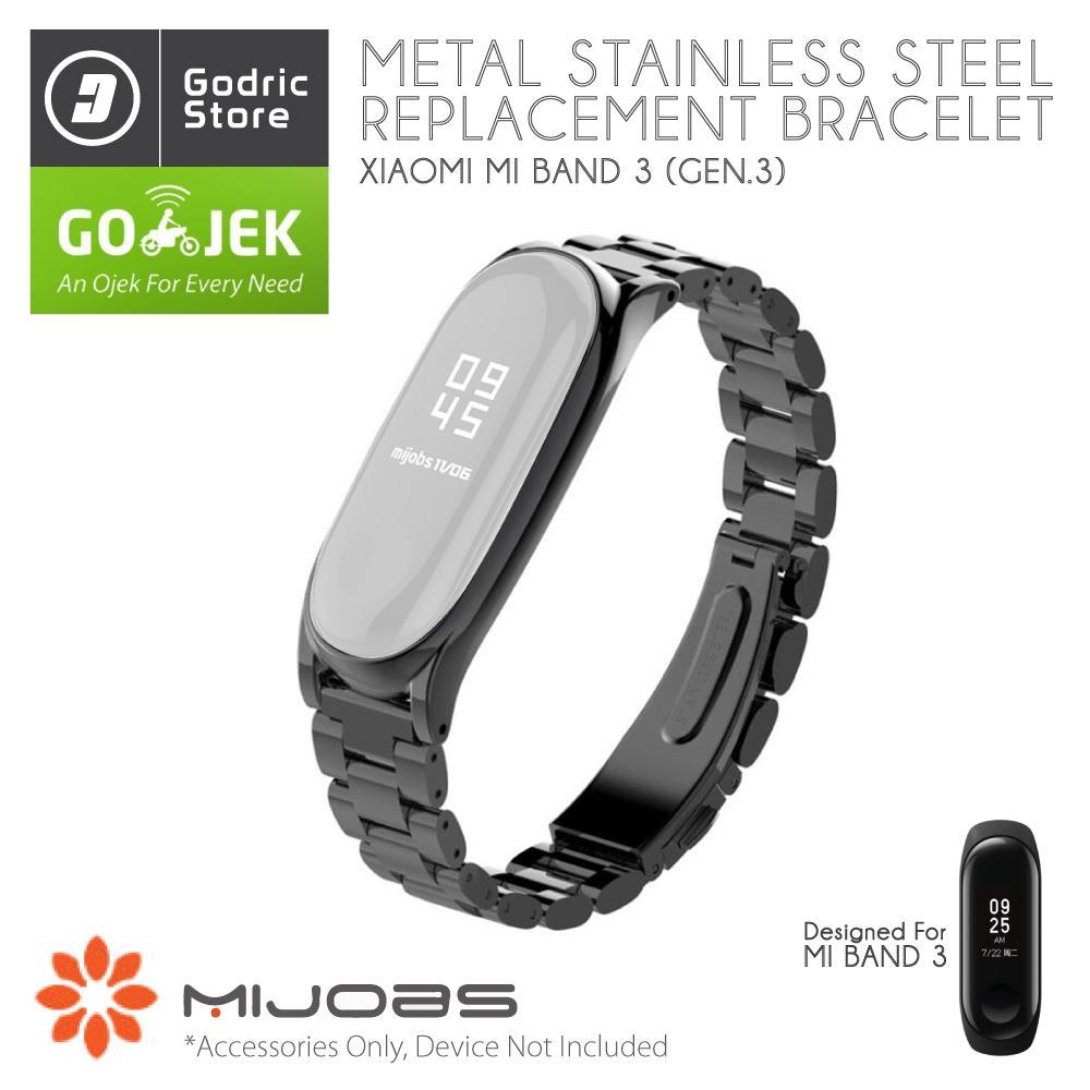 MIJOBS METAL PLUS Stainless Steel Wrist Strap for Xiaomi Mi Band 3 (MiBand 3) ORIGINAL
