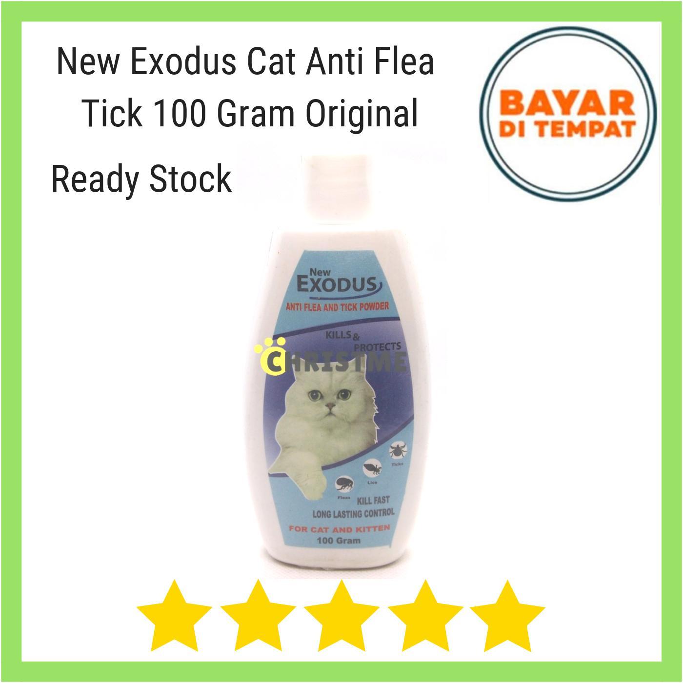 New Exodus Bedak Powder Talk Talc Kitten 100ml Anti Flea Tick- Bedak Kucing / Cat Anti Kutu By Christ Me.