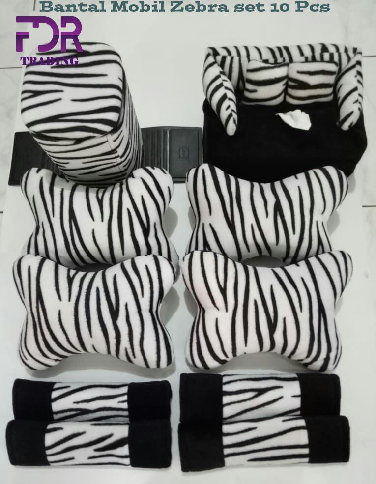 Bantal mobil Zebra set 10 Pcs/aksesoris bantal mobil Zebra/bantal mobil karakter Zebra set 10 Pcs