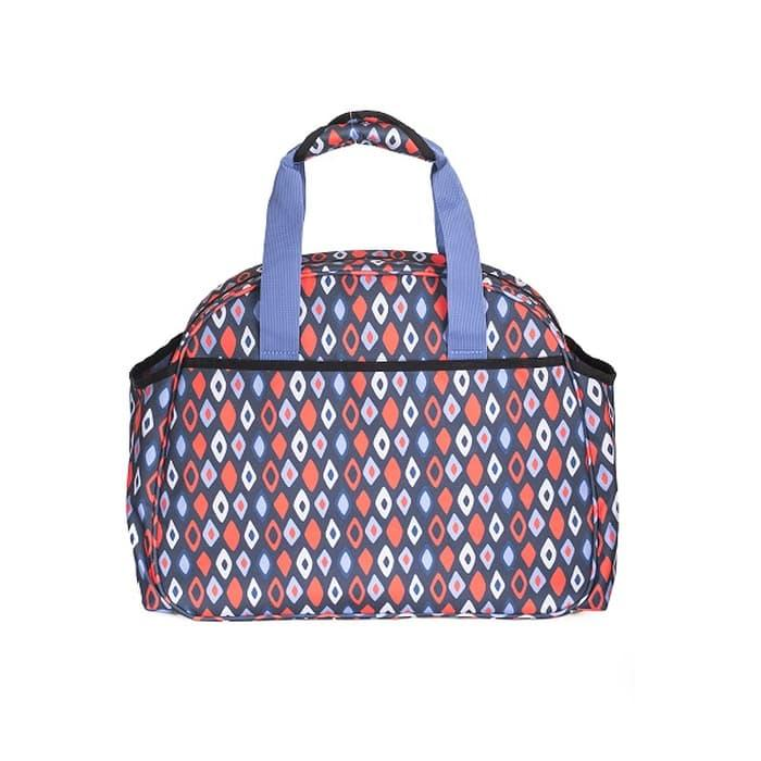 Okiedog Freckles Travel Bag Blue/Red Rombe Tas Bayi