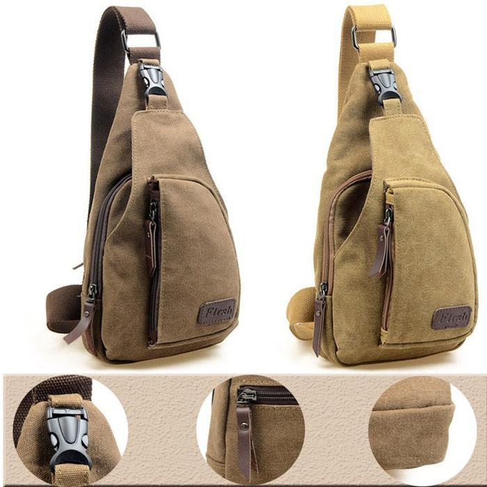 Bodypack Bag Tas Selempang Pria / Men Sling Shoulder Bags BESAR FAP007 - Coklat Besar