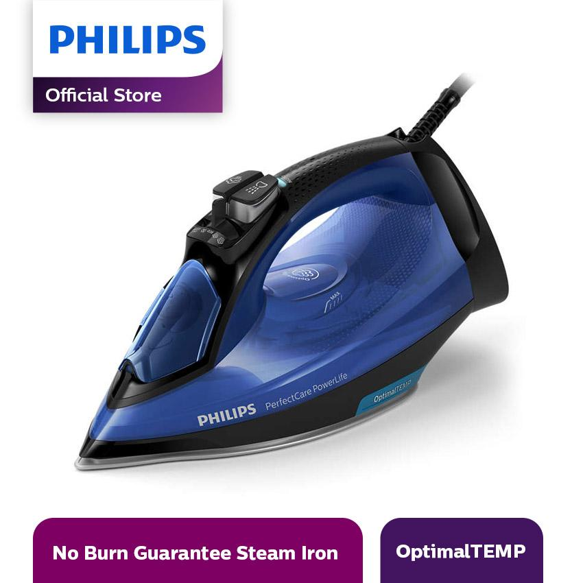 Philips Perfect Care Setrika Uap GC3920/24 Steam Iron - Biru/Hitam
