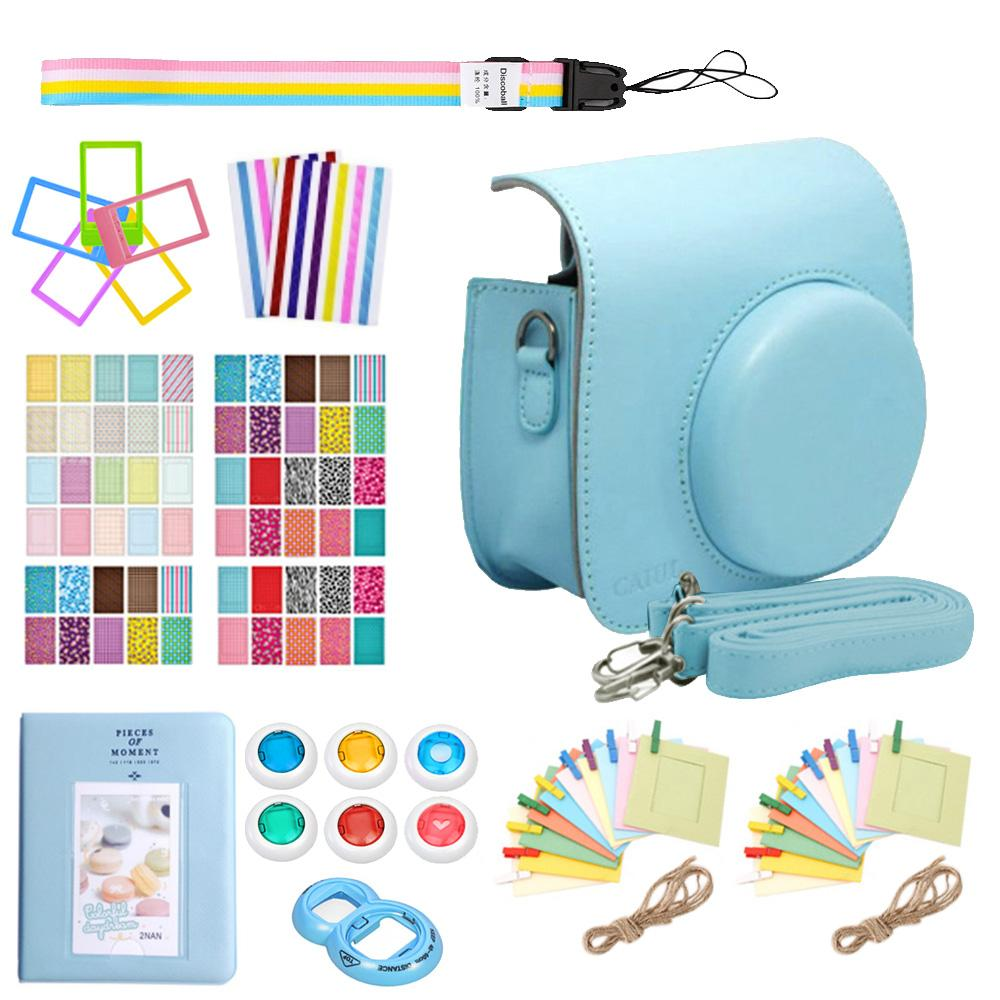 Buy Sell Cheapest Kit Fujifilm Instax Best Quality Product Deals X T100 Mini 8 Free Sdhc 16 Gb Tas Sirui Sling Bag Black 9 In 1 Casing Kamera Set Pu Koper Kulit Cover Album Cermin Potret Diri Warna
