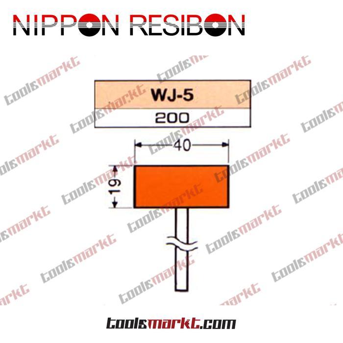 ORIGINAL - Nippon Resibon WJ-5 40x19mm Abrasive Resinoid Mounted Wheel WJ5