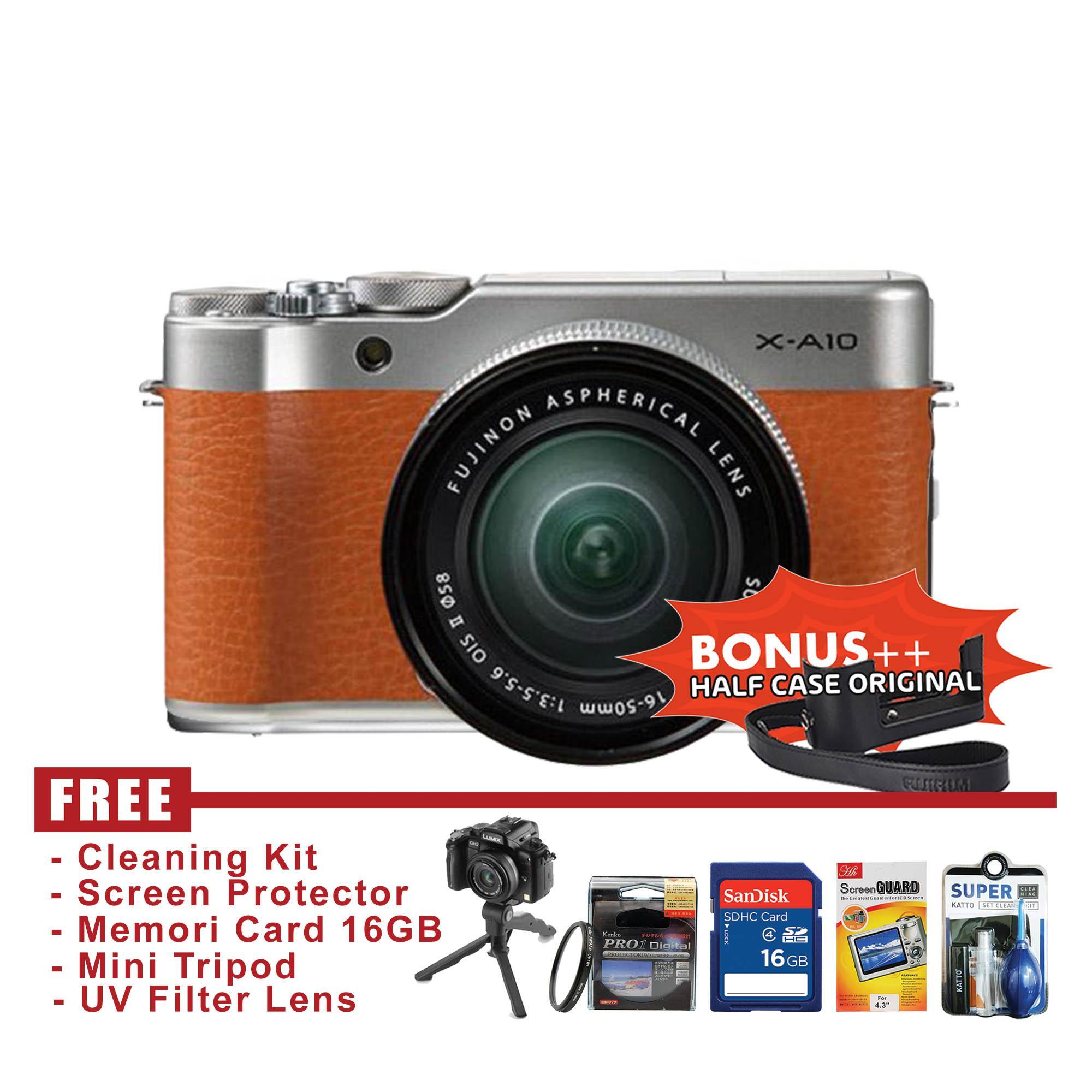Jual Kamera Mirrorless Terbaru Canon Eos M10 Kit 15 45mm Is Stm 18 Mp Hitam Fujifilm X A10 16 50mm Ois Ii Brown Free Accessories