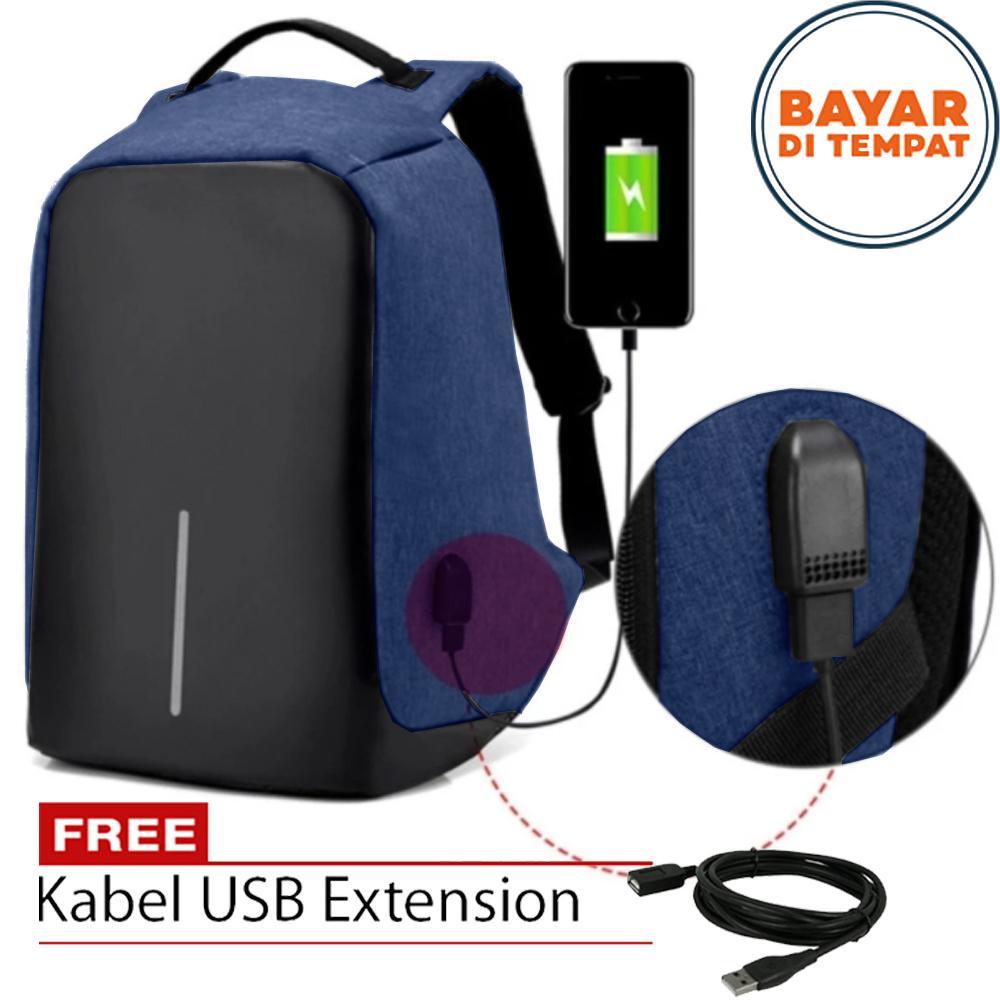 Polo Tas Anti Maling XW-008 Tas Ransel Anti maling Tas USB Tas Charger Tas Ransel USB Charger Tas P