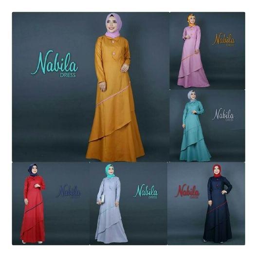 Baju Muslim Gamis Nabila Dress Ballotely