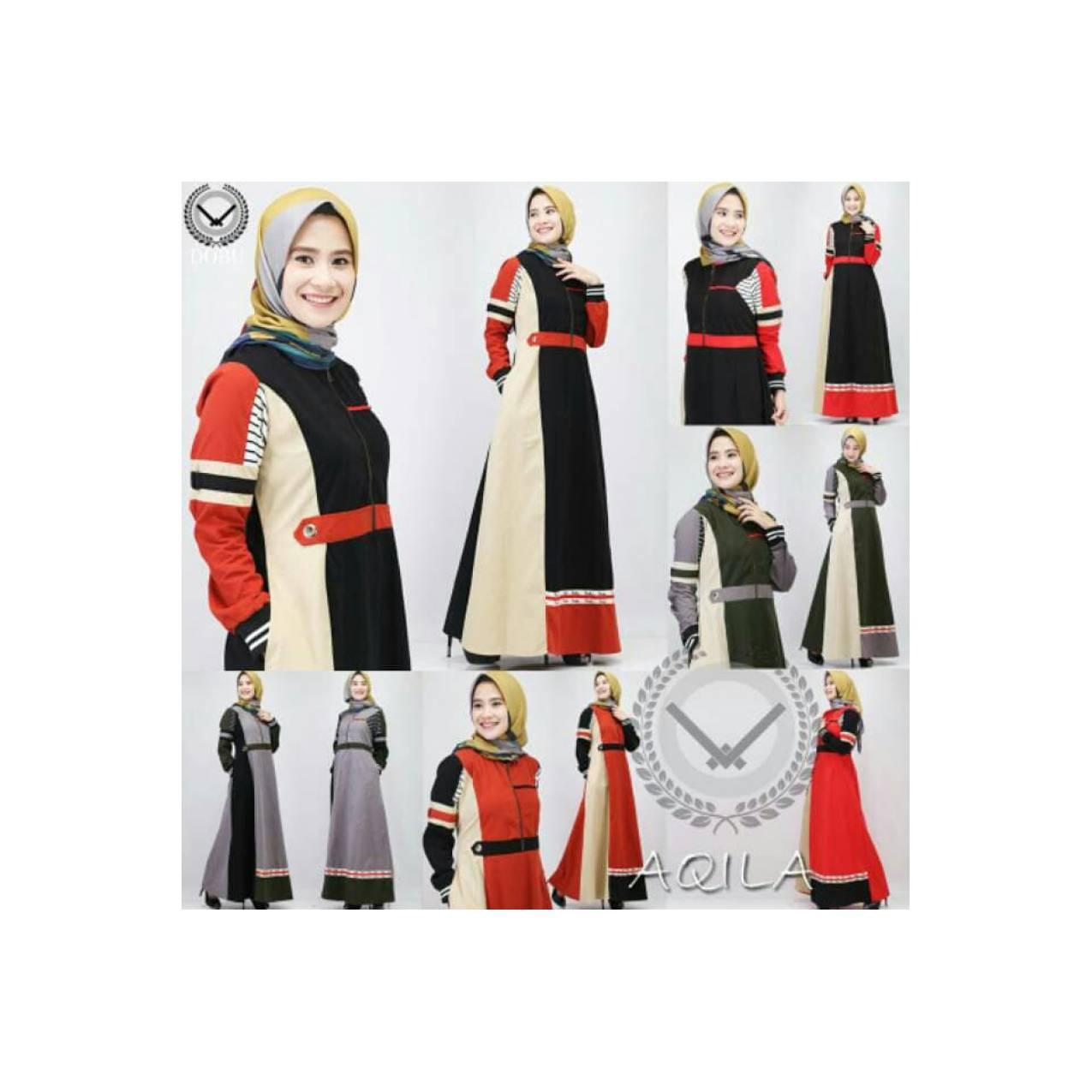 GAMIS MUSLIMAH DRESS ( AQILA DRESS ) ORI BY DOBU