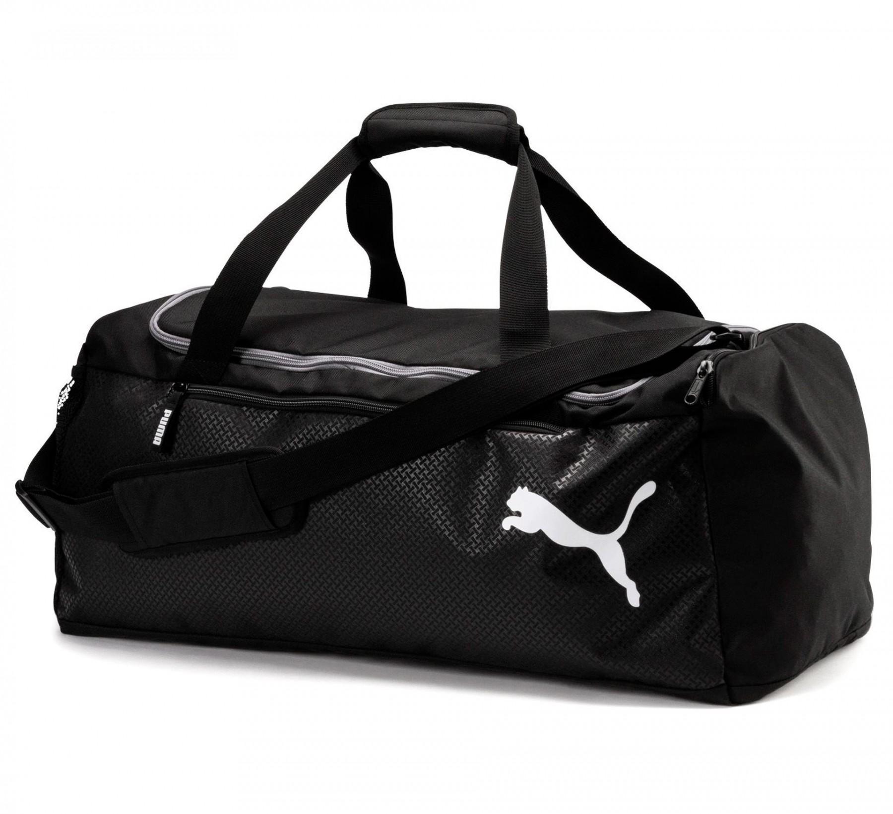 Tas Olahraga Puma Fundamentals Sports Bag M - 07552801 - Hitam By Sarangsepatu.