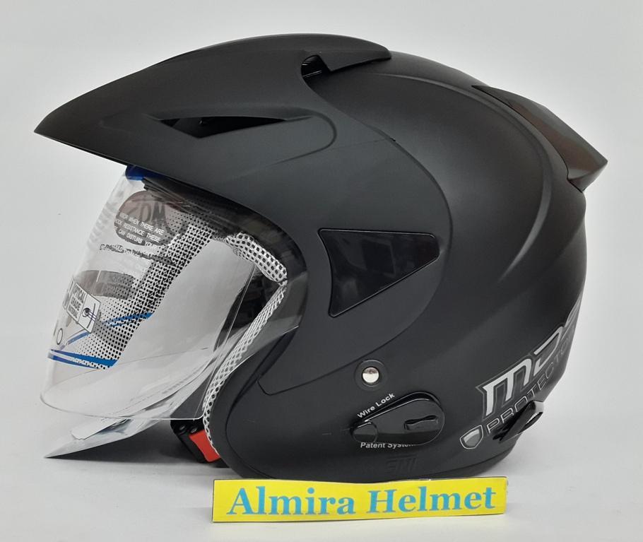 MDS Protector Helm Half Face - Black Doff