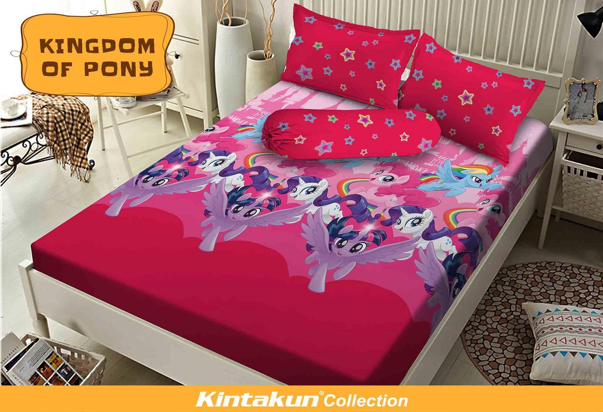 Kintakun Dluxe Sprei 180X200cm – Kingdom Of Pony