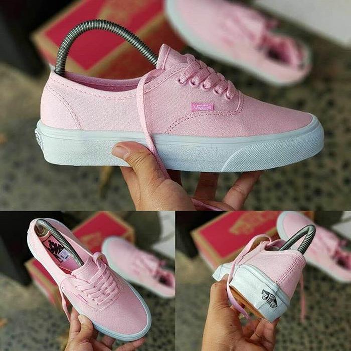 Murah -  Vans authentic pink/white / sepatu cewe / kado cewe