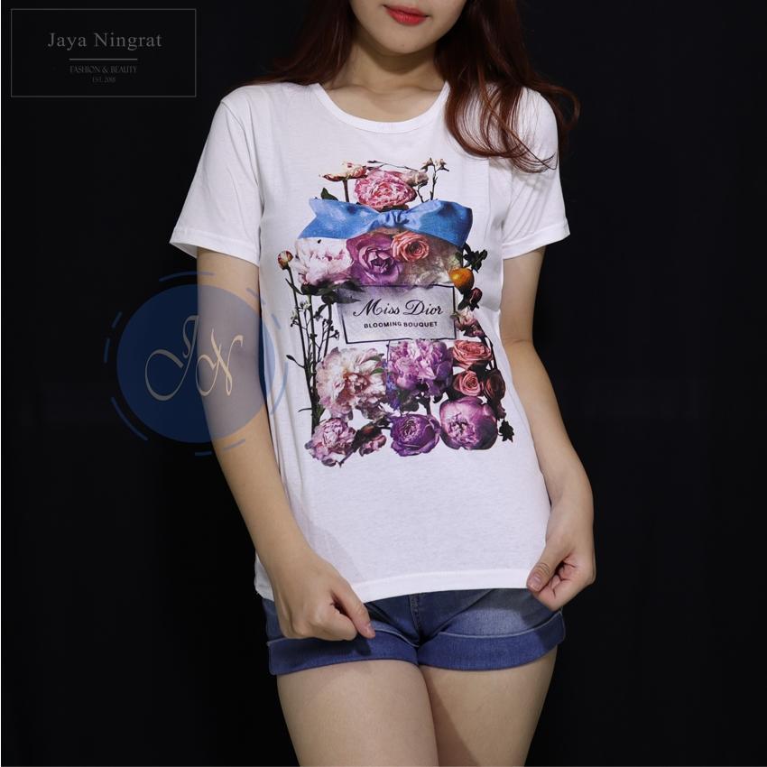 Jaya Ningrat T-Shirt Wanita MISS DIOR Tumblr Baju wanita Kaos wanita Kaos remaja terkini