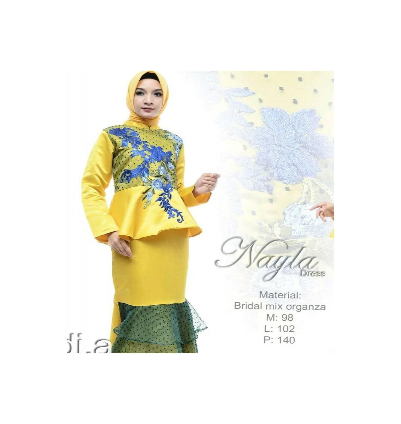 Busana Muslim/Gamis Syar'i Nayla/Syari by Di.A