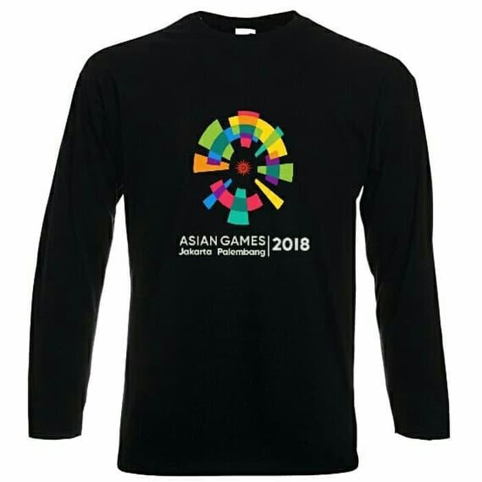 KAOS SHIRT INDONESIA ASIAN GAMES 2018 JAKARTA PALEMBANG LENGAN PANJANG/KAOS PRIA/KAOS ASEAN GAMES