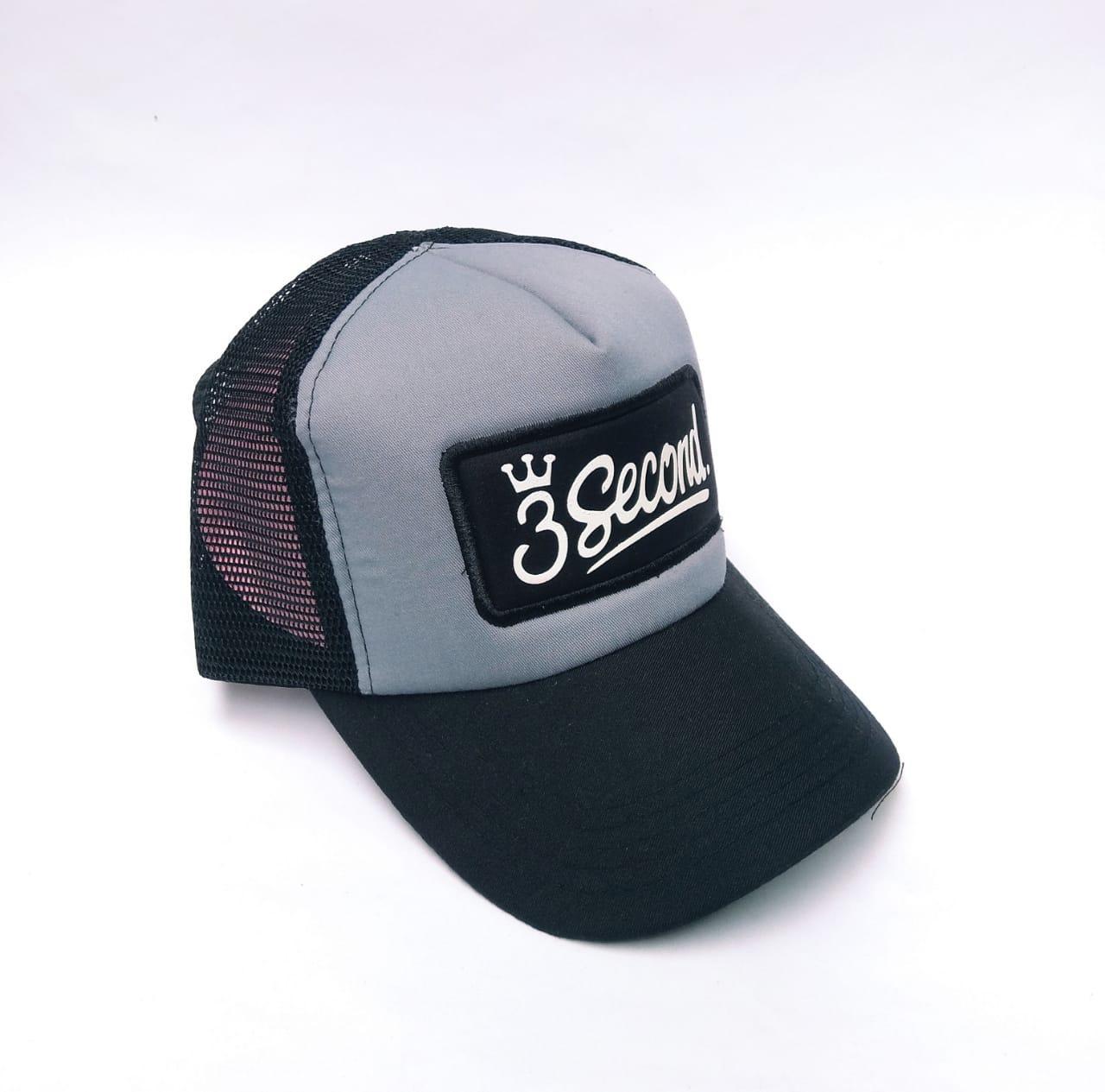 Topi jaring pria motif bordir tempel depan dan samping   topi trucker   topi  pria distro 89a0aa7491