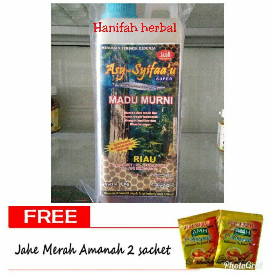 Buy Sell Cheapest Sarang Madu Hutan Best Quality Product Deals Kalimantan Gholiban Kemasan 1 Kg Riau As Syifauu