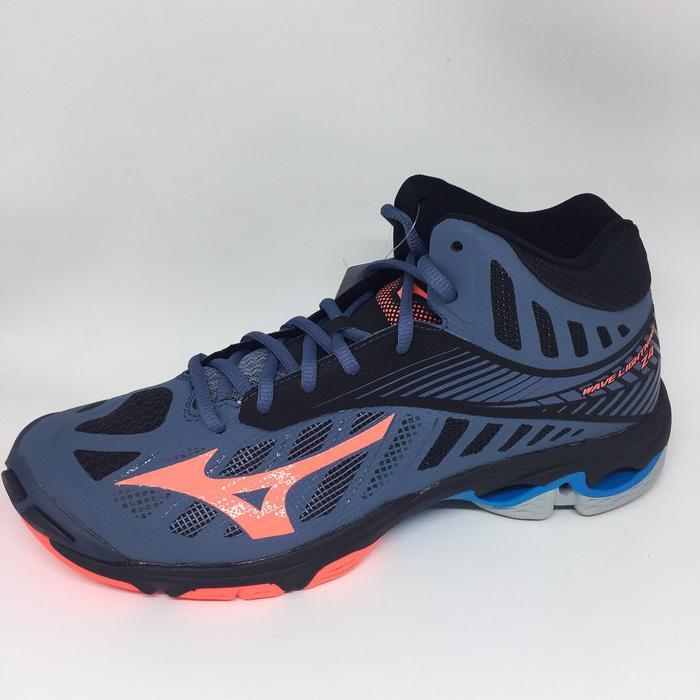 Harga Diskon!! Sepatu Volley Mizuno Original Wave Lightning Z4 Mid Blue  Mirage Fiery – ready stock 16cff8dc71