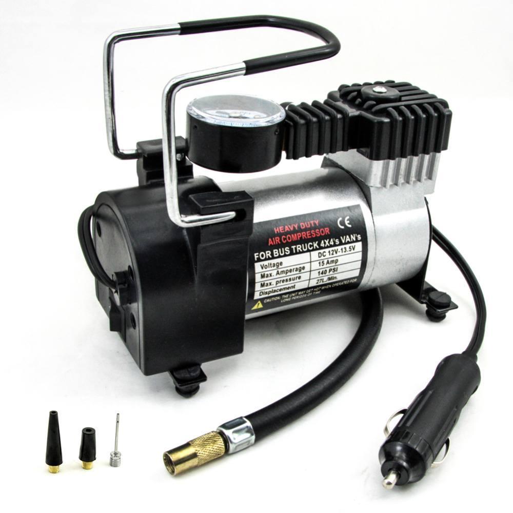 GoShop Pompa Ban Mini 100 psi Heavy Duty Air Compressor 12V DC