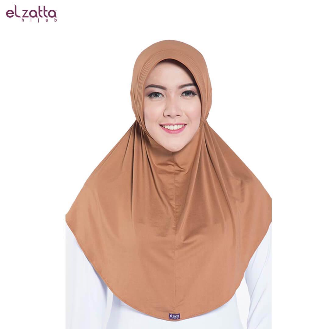 Elzatta Hijab Atau Hijab Atau Hijab Instan Atau Bergo Atau Elzatta Basic - E001 MOCCA