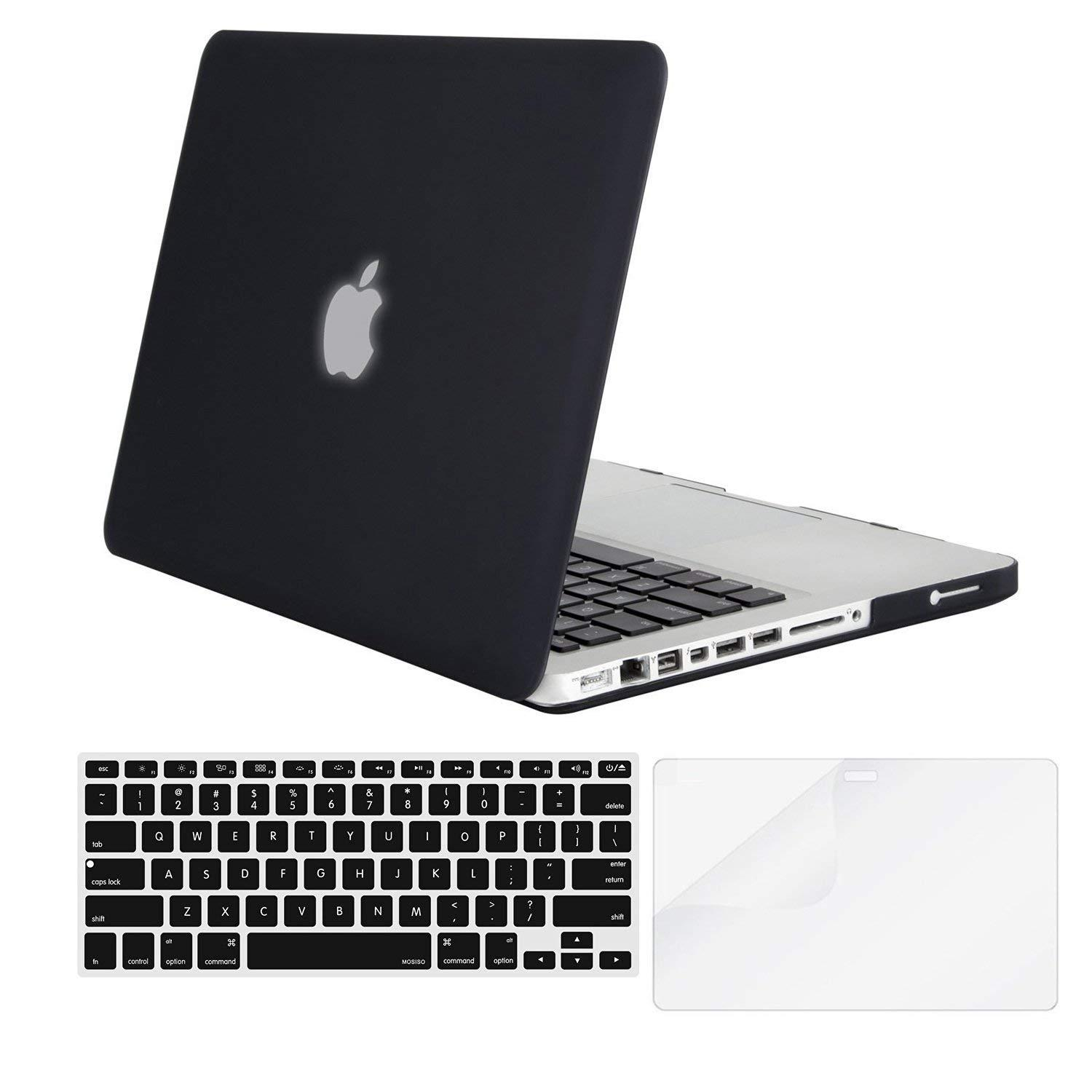 Macbook case Plastic Pattern Hard Case & Keyboard Cover & Screen Protector Only Compatible Old MacBook Pro 13 Inch(A1278, with CD-ROM) Release Early 2012/2011/2010/2009/2008