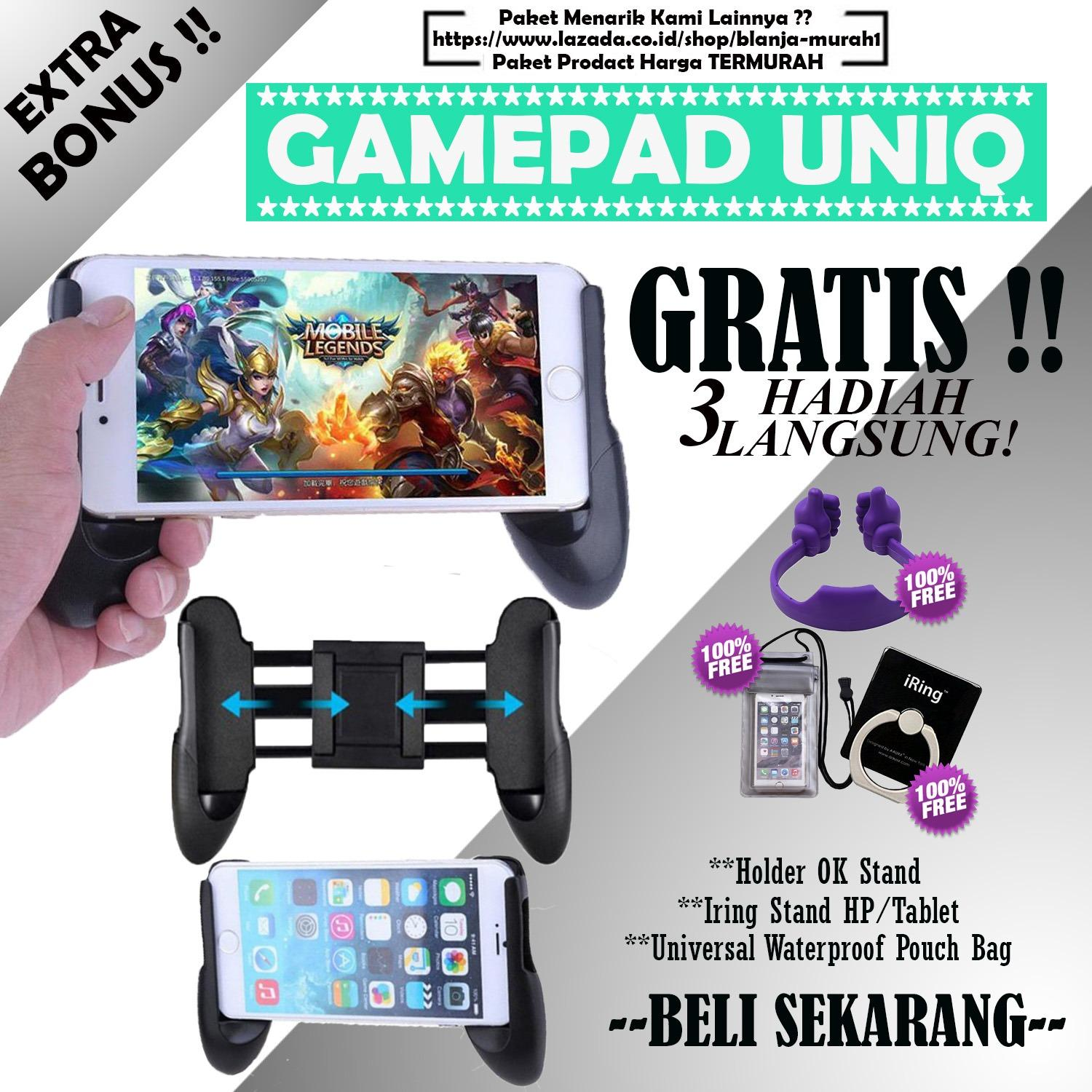 BLANJA MURAH Gamepad Mobile Joystick Controller - Game Pad Grip MOBA Smartphone AOV - GRATIS Universal Waterproof Pouch Bag + Iring Stand HP/Tablet & Holder OK Stand