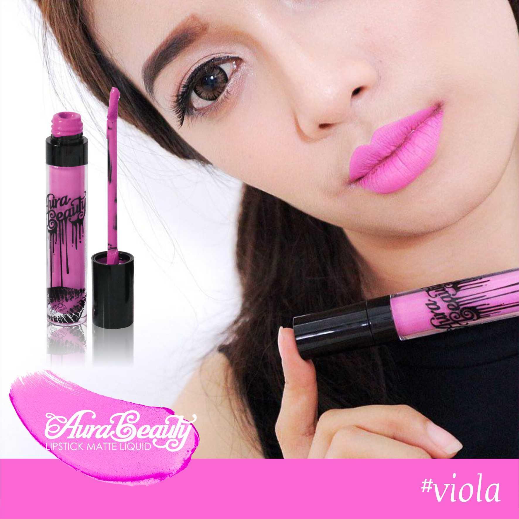 Buy Sell Cheapest Aura Beauty Lipmatte Best Quality Product Deals Viola Seller Lipstick Matte Lipstik Waterproof Varian Aries 4 Ml Menghidrasi Bibir Melembabkan