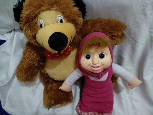 Boneka Marsha & Bear - Merah Boneka09490