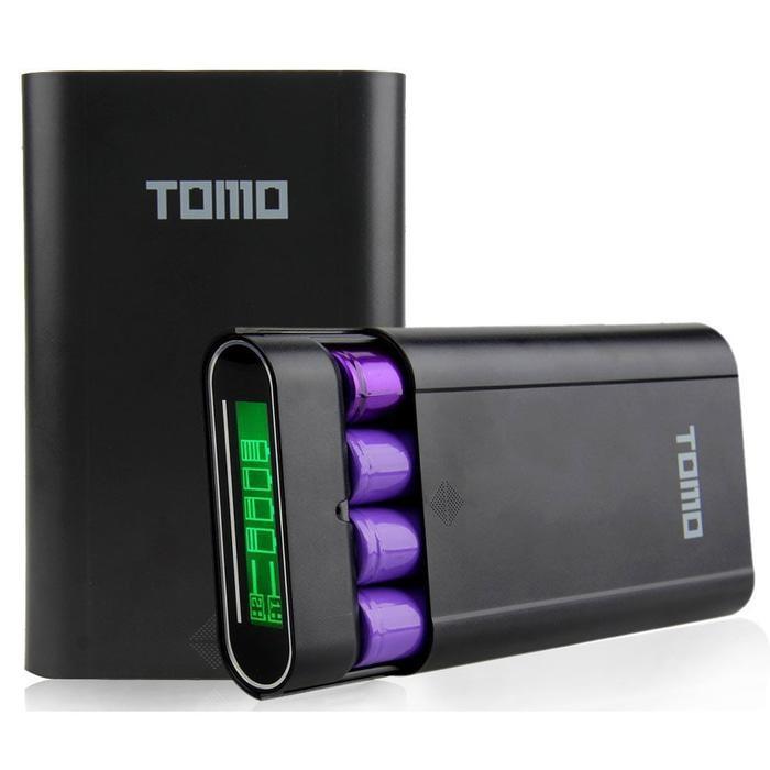 TOMO M4 DIY Power Bank Case 2 USB Port - Black
