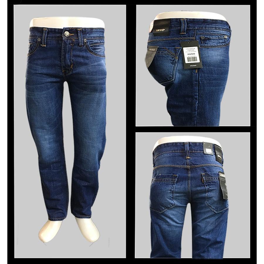 Celana jeans pria hugo denim model standar