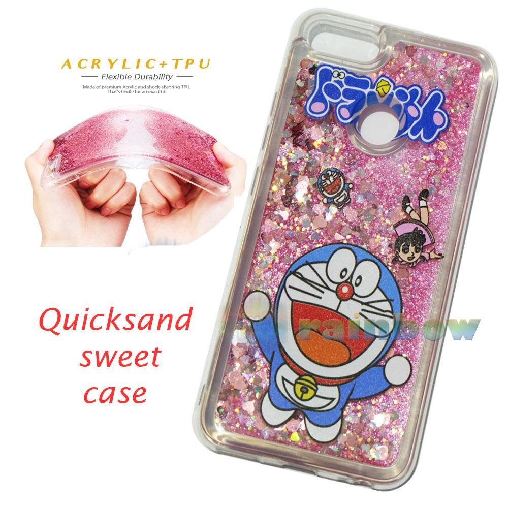 Rainbow Silikon Case Xiaomi Mi 5X Doraemon Quicksand Case Liquid Dynamic / Case Custom Xiaomi Mi 5x Glitter (6 Gbr) / Softcase Aquarium Xiaomi Mi 5x Gambar ...