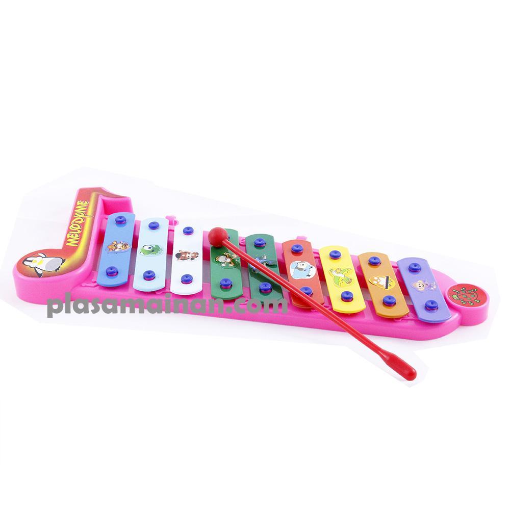MOMO Toys Xylophone Melodyme Pink 609 BC - Mainan Kolintang