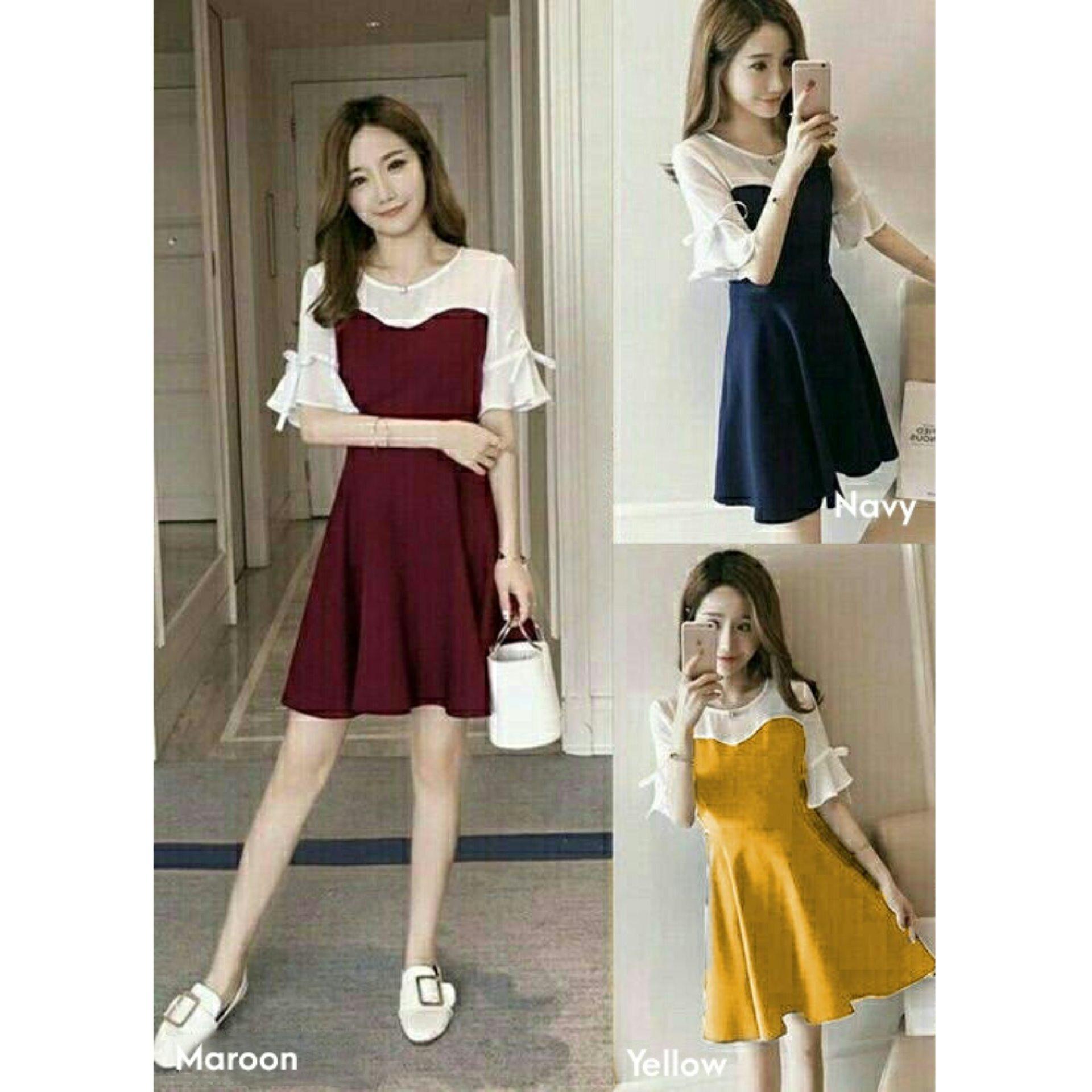 trendshopee Pakaian Wanita Mini Dress Mosini