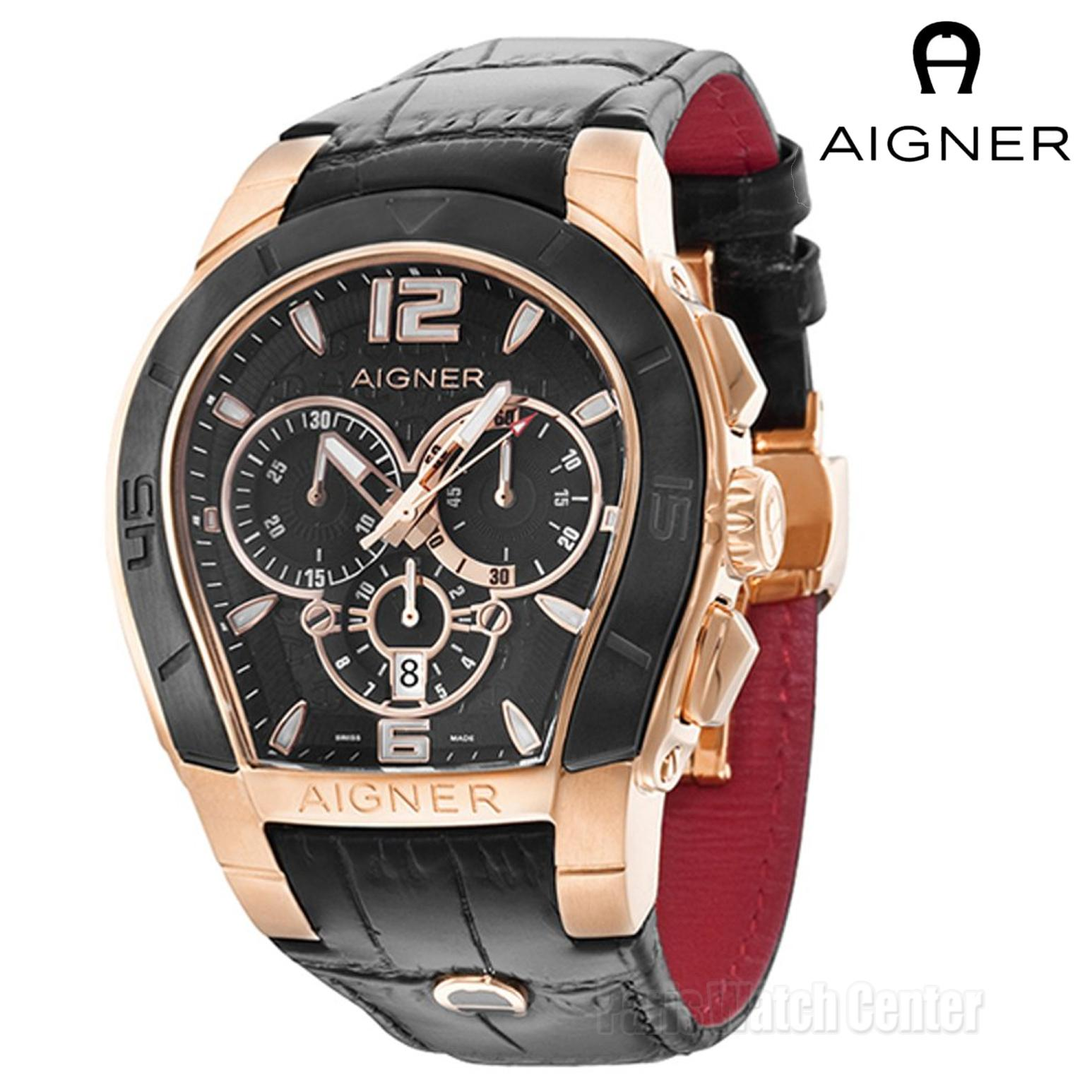 Buy Sell Cheapest Aigner A58106 Palermo Best Quality Product Deals Swiss Navy Jam Tangan Pria Hitam Rosegold Leather Strap Sn 8647 Dan Wanita Unisex Chrono