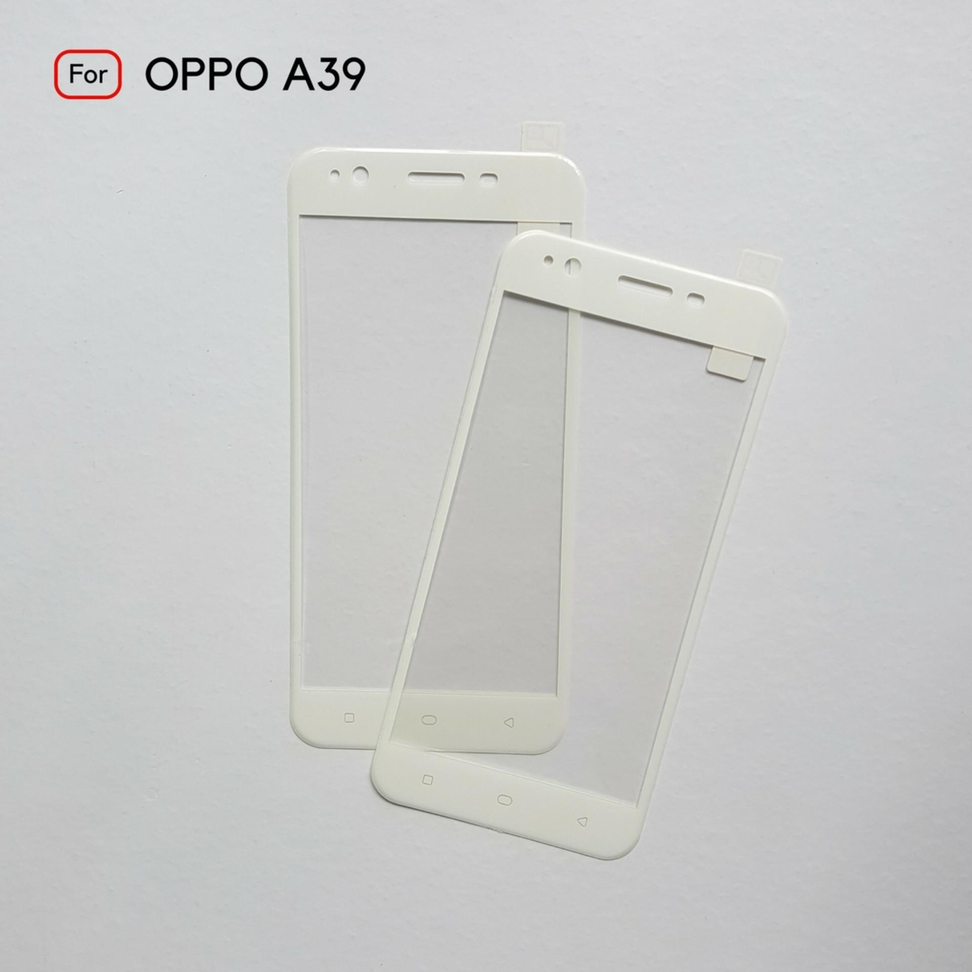 kenzoe Tempered Glass Warna Full Corning Screen Protector For Oppo A39 - White