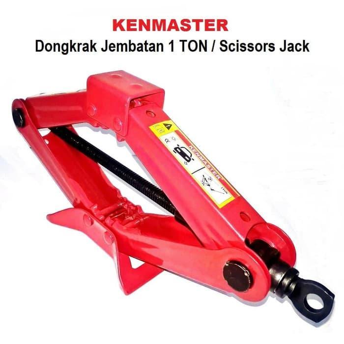 Kenmaster Dongkrak Jembatan 1 Ton - Scissor Jack By Gogo Shop.