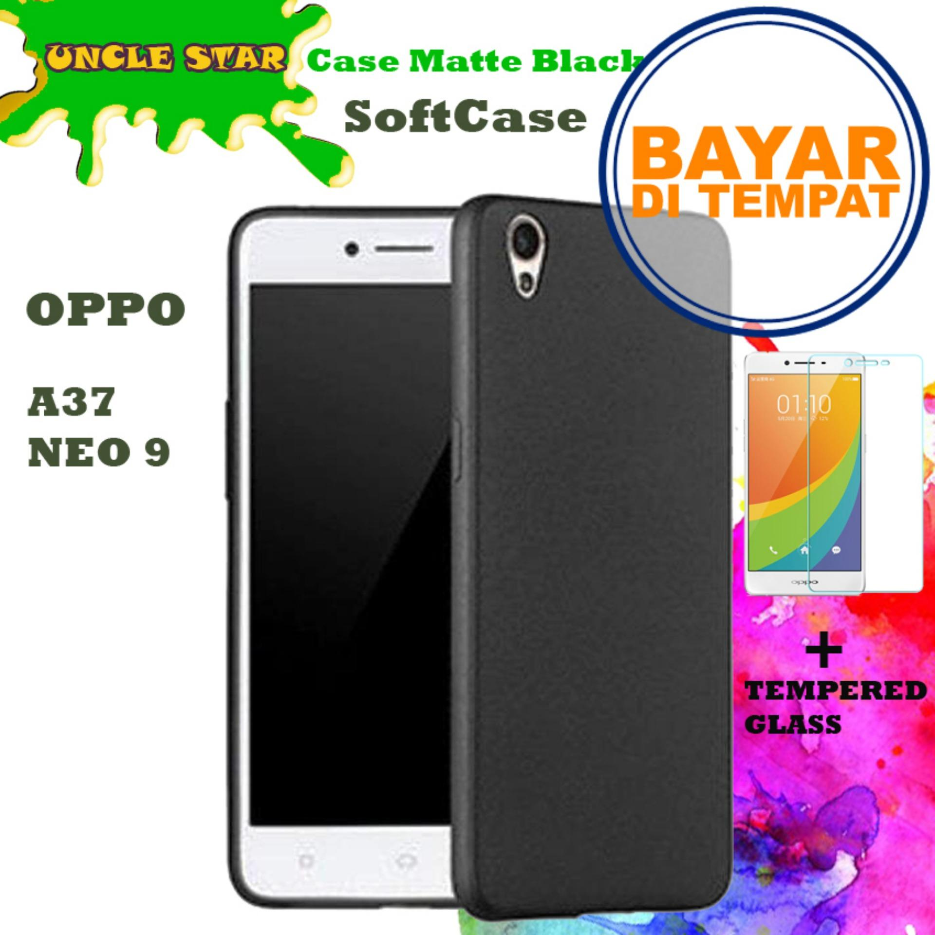 Uncle Star - SOFTCASE Case Matte Black Elegant For Oppo A37 / Neo 9 + Free