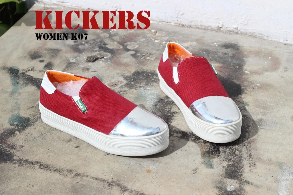 Gratis Ongkir Sepatu Wanita Kickers K07 Paling Fashionable