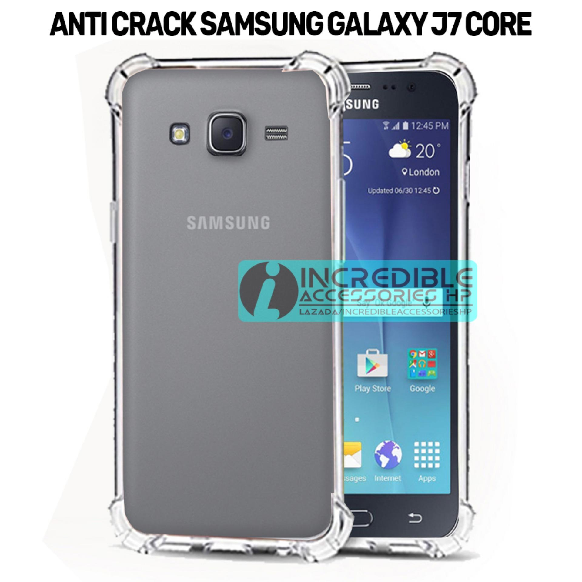 Case Anti Shock / Anti Crack Elegant Softcase  for Samsung Galaxy J7 Core - White Clear