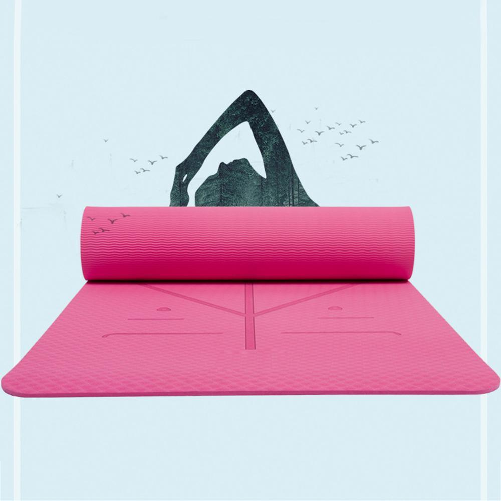 6 Mm Non Slip Tikar Untuk Yoga Pilates Kebugaran 173 X 61 X 06 Cm Biru
