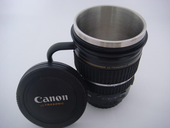SALE - Gelas Mug Replika Lensa Kamera Canon EF 17-55mm tutup biasa gagang Import