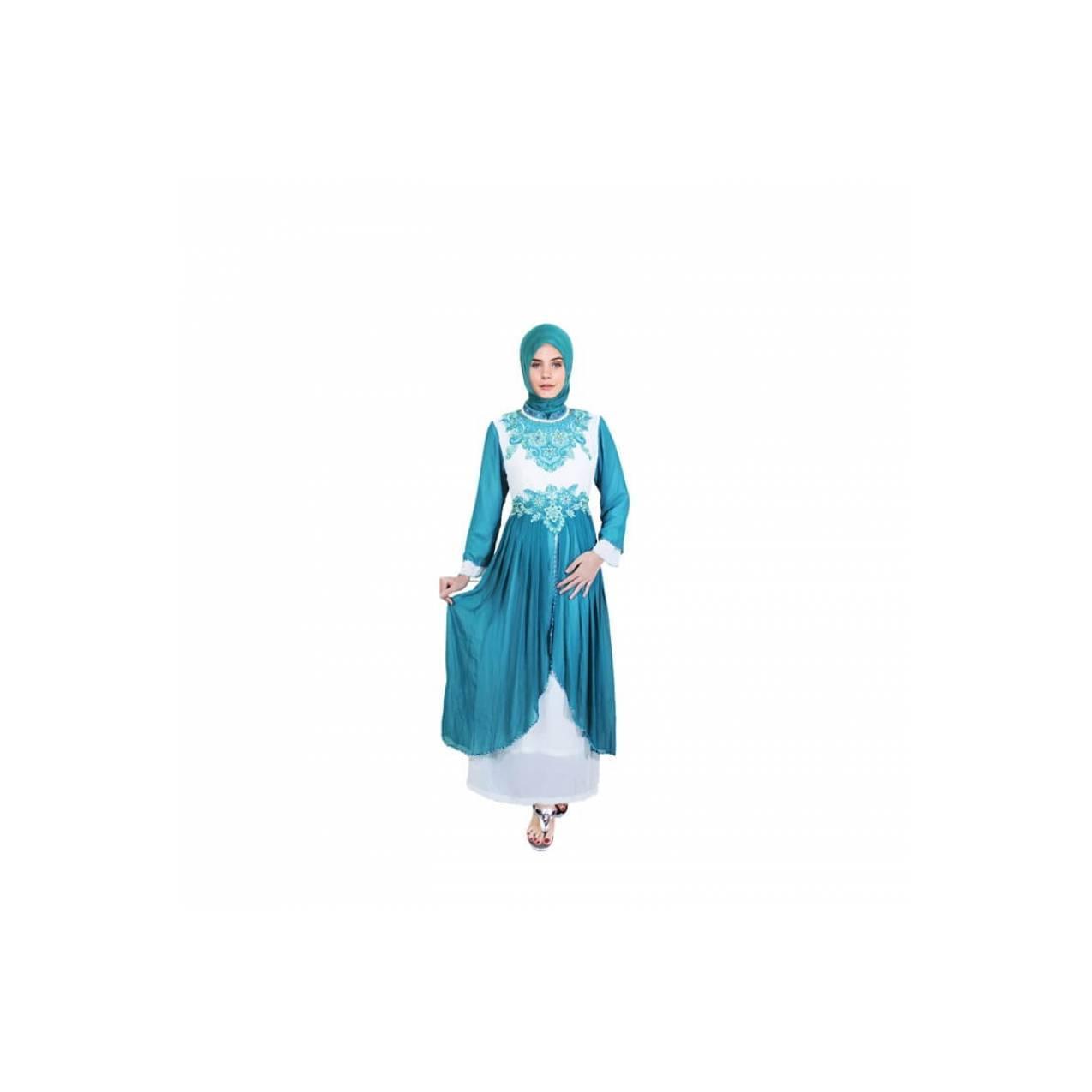 Gamis Brokat Dress Vamosh Sifon Cantik Java7 IRF 561
