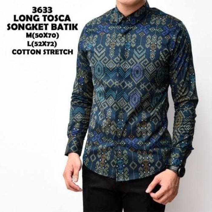 Dgm_Fashion1 Kemeja Batik Songket Best Seller Lengan Panjang / Kemeja Young Lex/Kemeja Coco/Kemeja