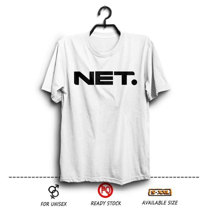 Kaos Distro Net TV Indonesia Putih Wfcloth